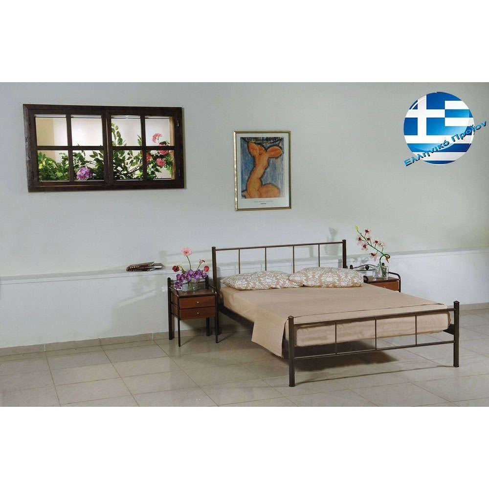 Κρεβάτι Μεταλλικό Απιστία Μονό 98x198 4674 Bronze