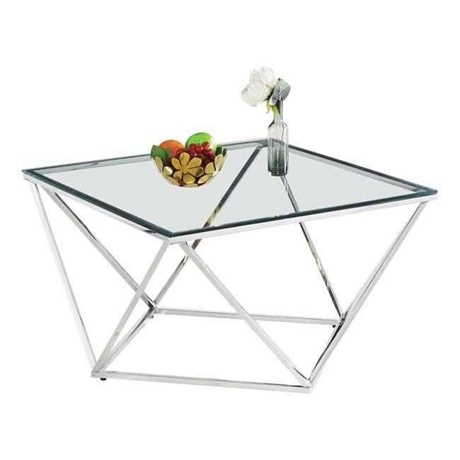 Τραπέζι Σαλονιού Willow Silver 80X80X45 HM8613.01