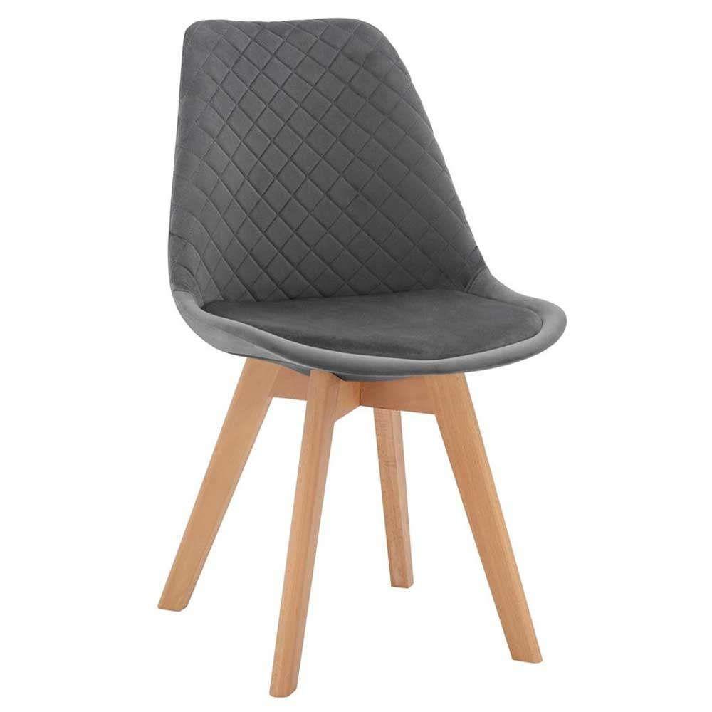Καρέκλα Venice HM8719.01 49x56x84Υcm Grey Σετ 4τμχ