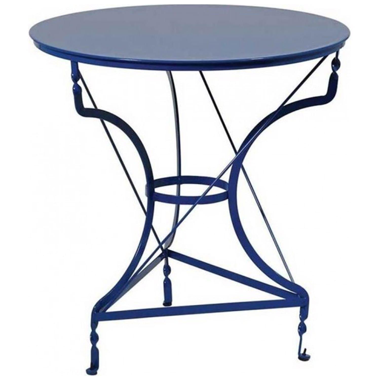 Τραπέζι Καφενείου Γαλβανιζέ 3796 Blue Φ70cmX72cm