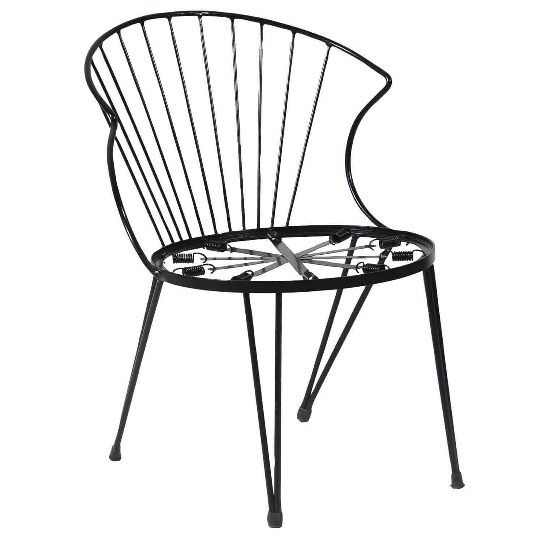 Καρέκλα Στοιβαζόμενη 155501 Γαλβανιζέ Black 51X59X77 cm