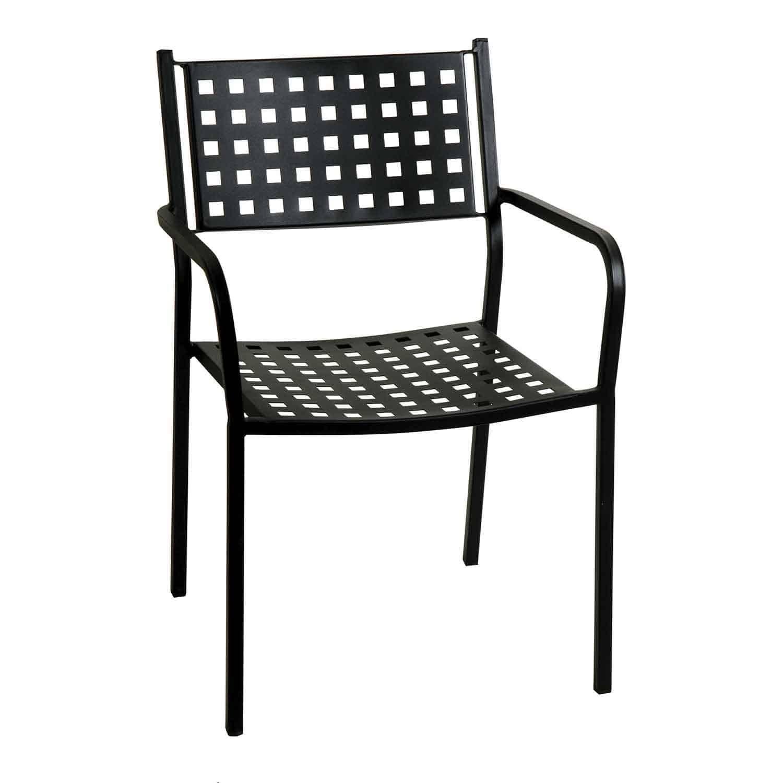 Πολυθρόνα Στοιβαζόμενη 165449 Black 54X51X84 cm