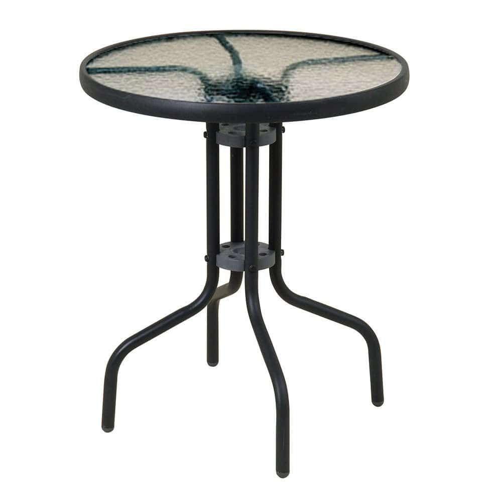 Τραπέζι 21070-60 Φ60x70cm Black