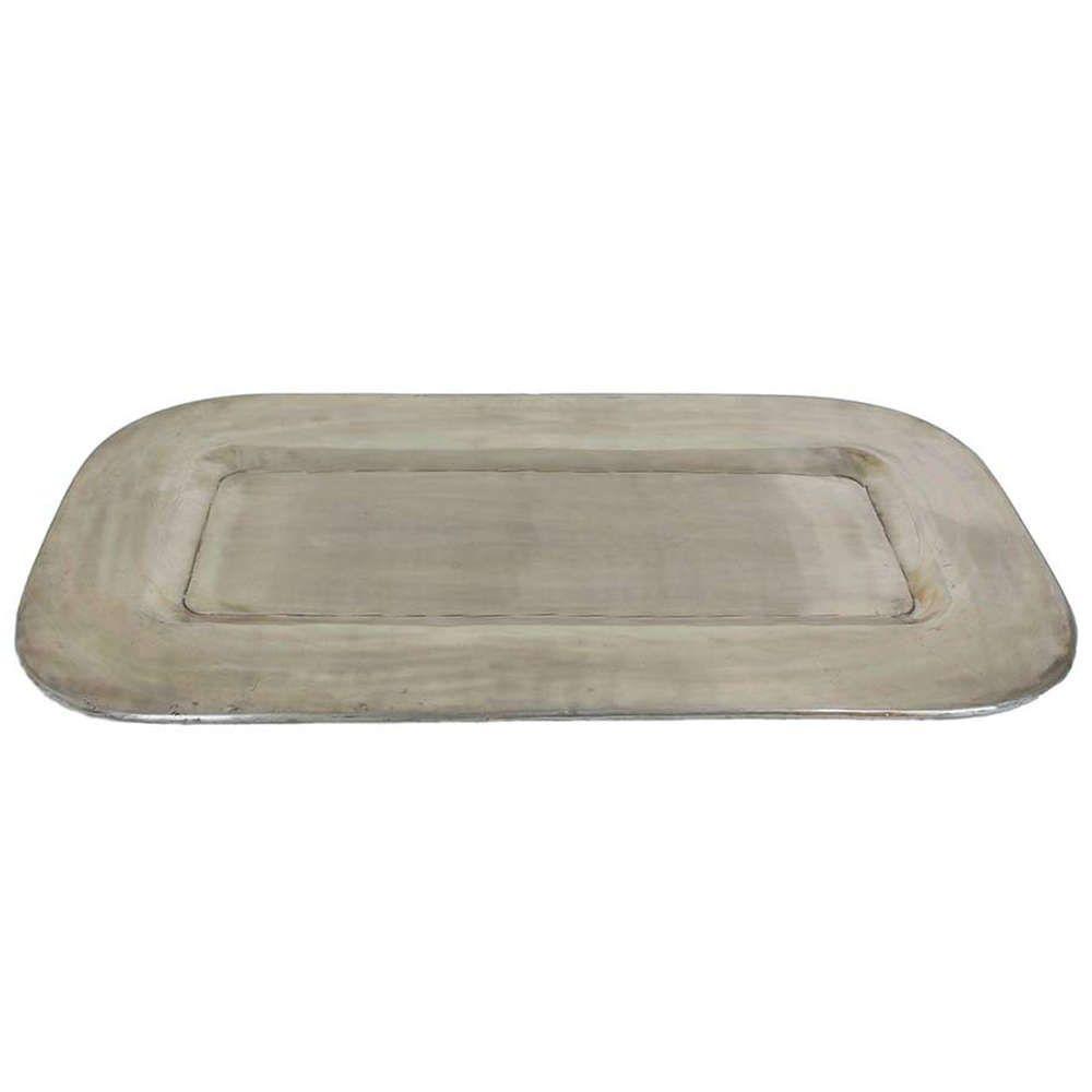 Δίσκος Ορθογώνιος Μεταλλικός 06-2993 78x43x1,5Ycm Silver