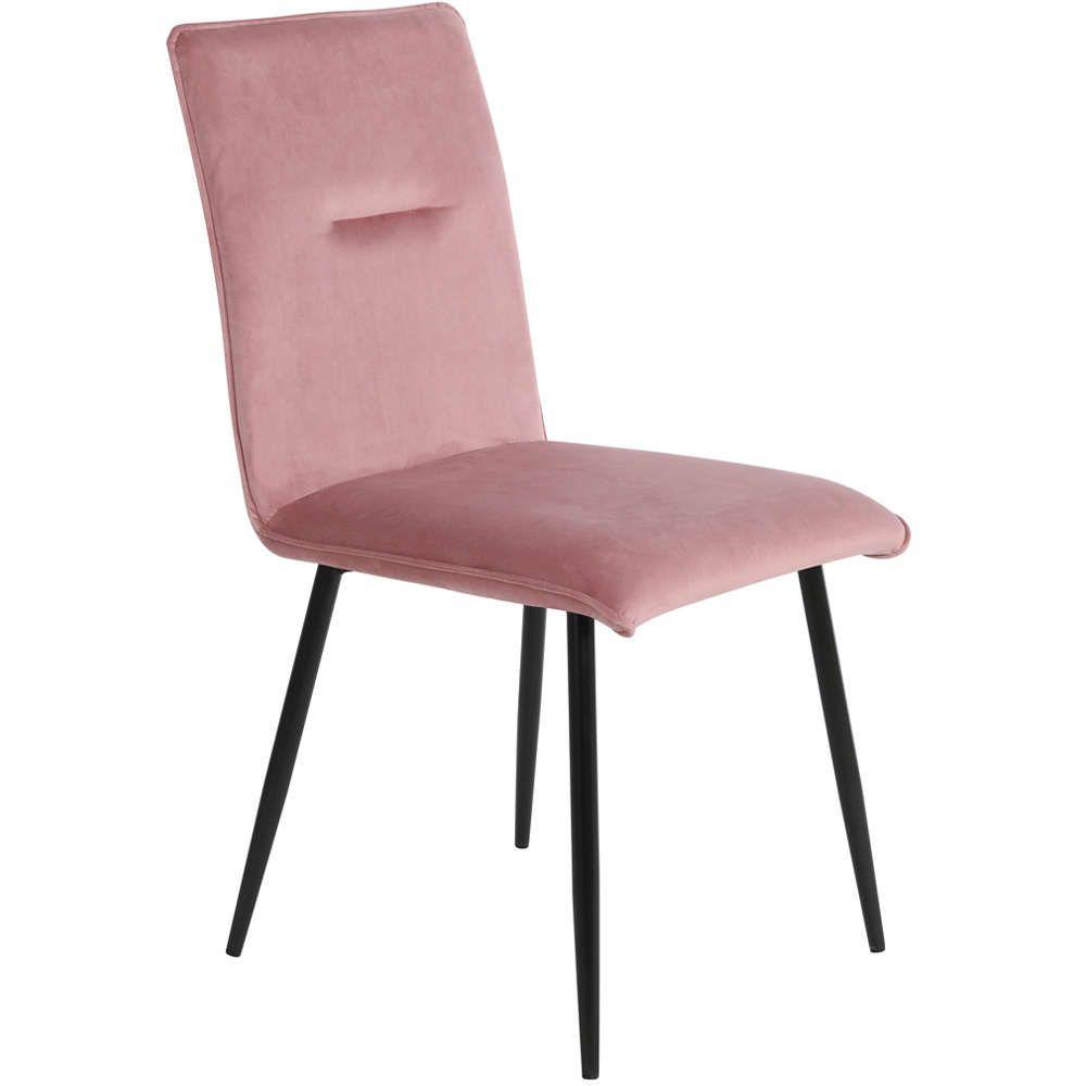 Καρέκλα Βελούδινη Ingrid 06-2276 44x48x89Ycm Με Μεταλλικά Πόδια Pink