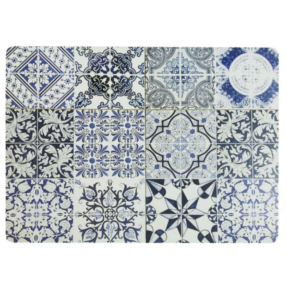 Σουπλά Barcelona (Σετ4 Τμχ) 06-0471 30x40cm Mdf Blue-Grey