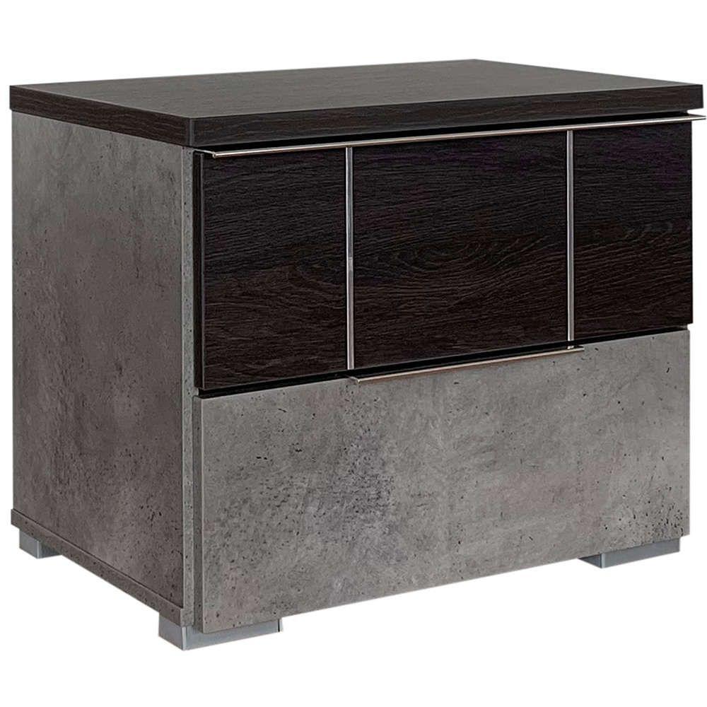 Κομοδίνο Maurice 06-0844 58x39x48Ycm Black Oak Cement