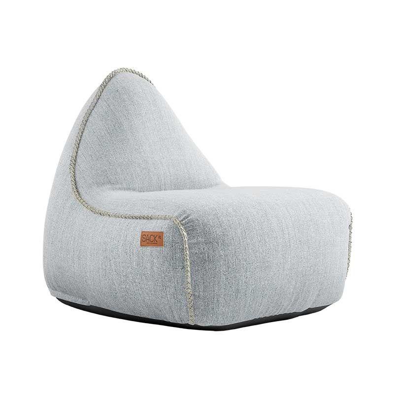 Πουφ Lounge Πολυθρόνα White 96x80x70 cm Sackit