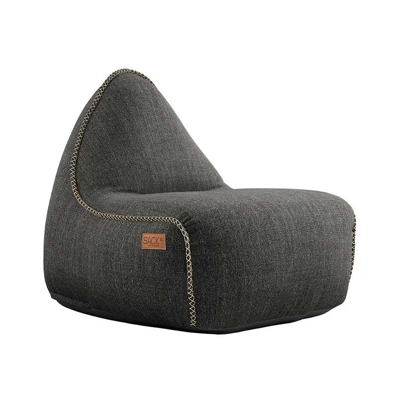 Πουφ Lounge Πολυθρόνα Grey 96x80x70 cm Sackit
