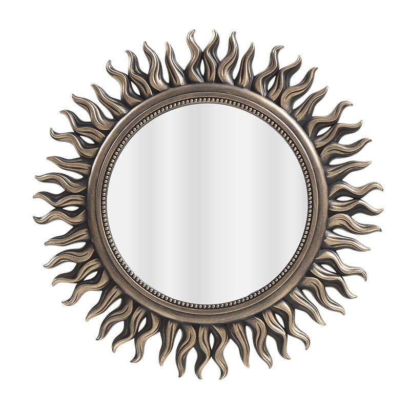 Καθρέπτης Τοίxου Αντικέ 3-95-058-0040 Gold 53x2x53 Inart