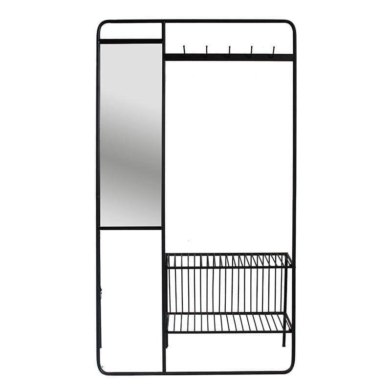 Έπιπλο Εισόδου Με Καθρέπτη 3-50-154-0003 101Χ28Χ180 Black Inart