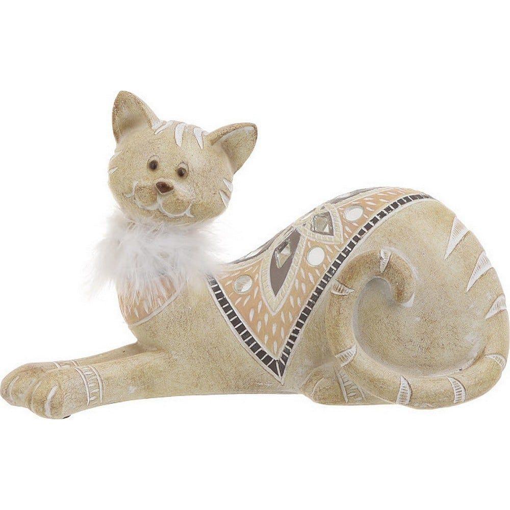 Διακοσμητικό Επιτραπέζιο Γάτα 3-70-547-0713 Ecru 21Χ9Χ13 Inart