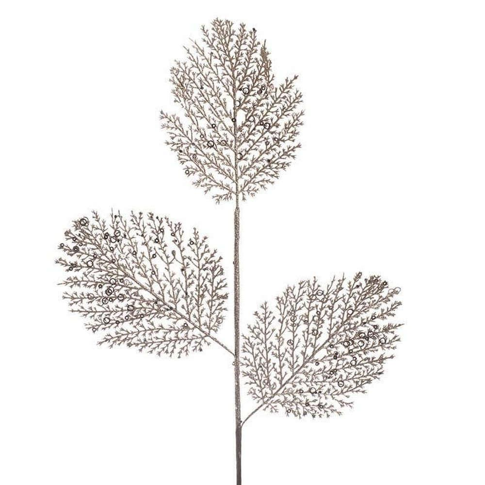 Διακοσμητικό Κλαδί-Φυτό Με Γκλίτερ 3-85-084-0085 Gold Inart
