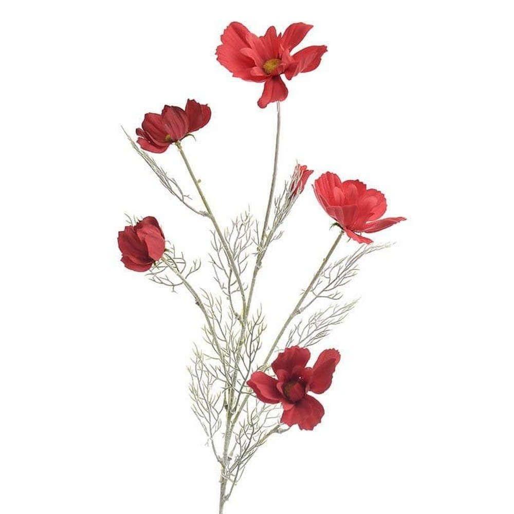 Διακοσμητικό Λουλούδι-Κλαδί 3-85-084-0055 Υ80 Red Inart
