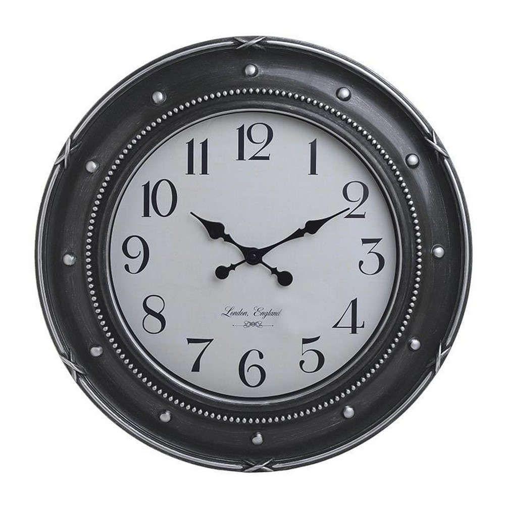 Ρολόι Τοίχου 3-20-925-0021 Δ58Χ5 Black-Silver Inart