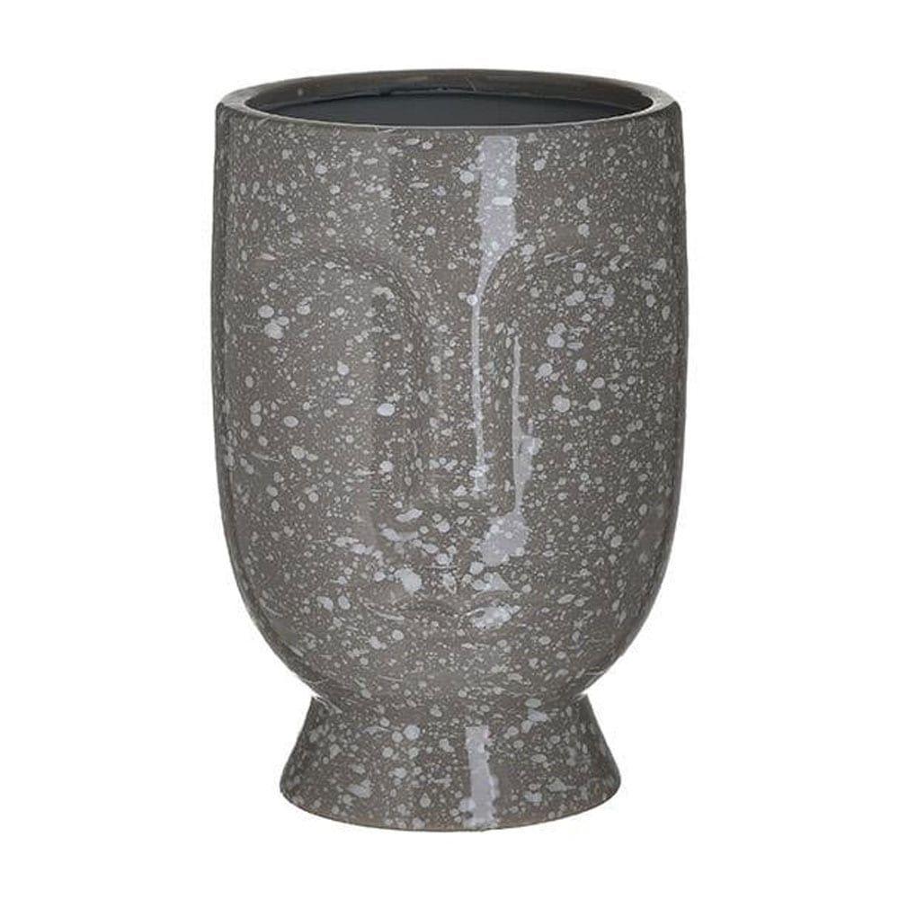 Βάζο Κεραμικό 3-70-685-0242 Πρόσωπο 15X23 Antique Grey Inart