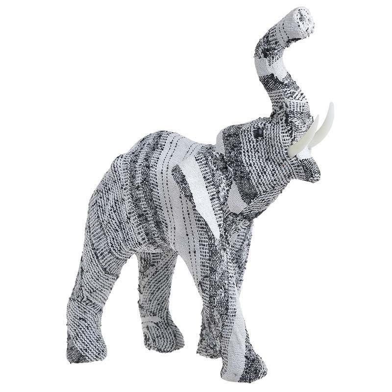 Διακοσμητικό Επιτραπέζιο 3-70-919-0008 Ελέφαντας 30X11X34 White-Black Inart