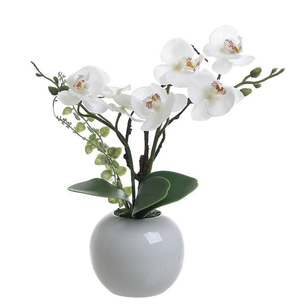 Λουλούδι Σε Γλάστρα 3-85-246-0215 H55 White Inart