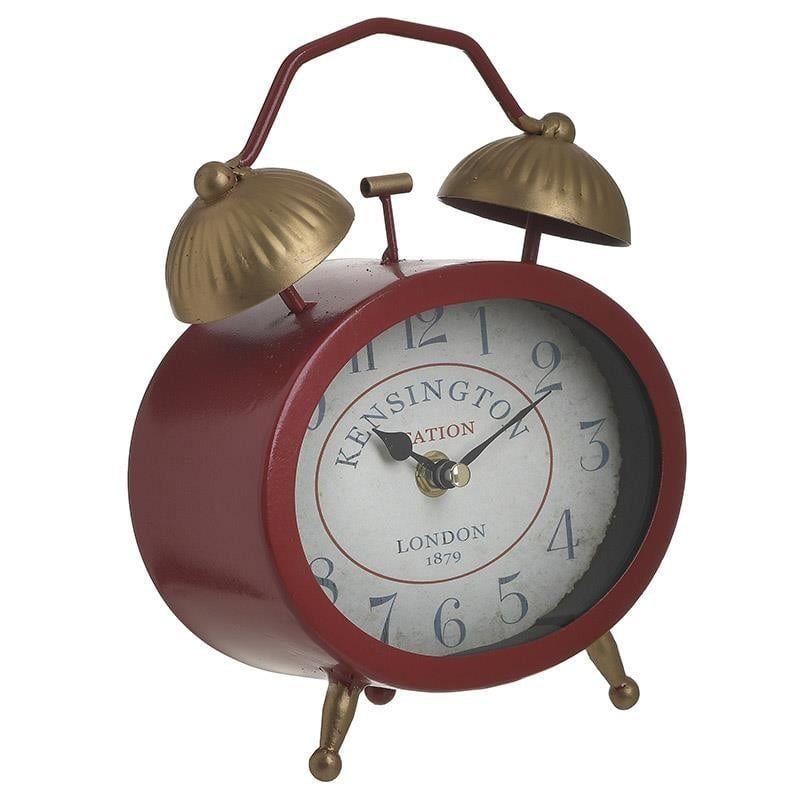 Ρολόι Επιτραπέζιο 3-20-977-0304 Κόκκινο/Χρυσό 16Χ7Χ22 Inart