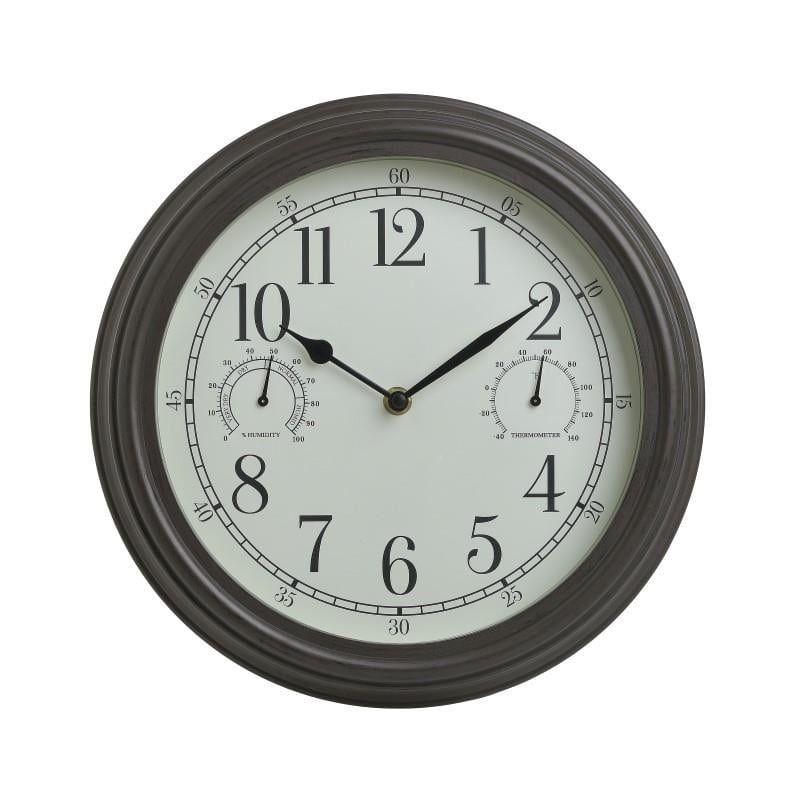 Ρολόι Τοίχου 3-20-828-0125 Εκρού/Μαύρο Δ30X4 Inart