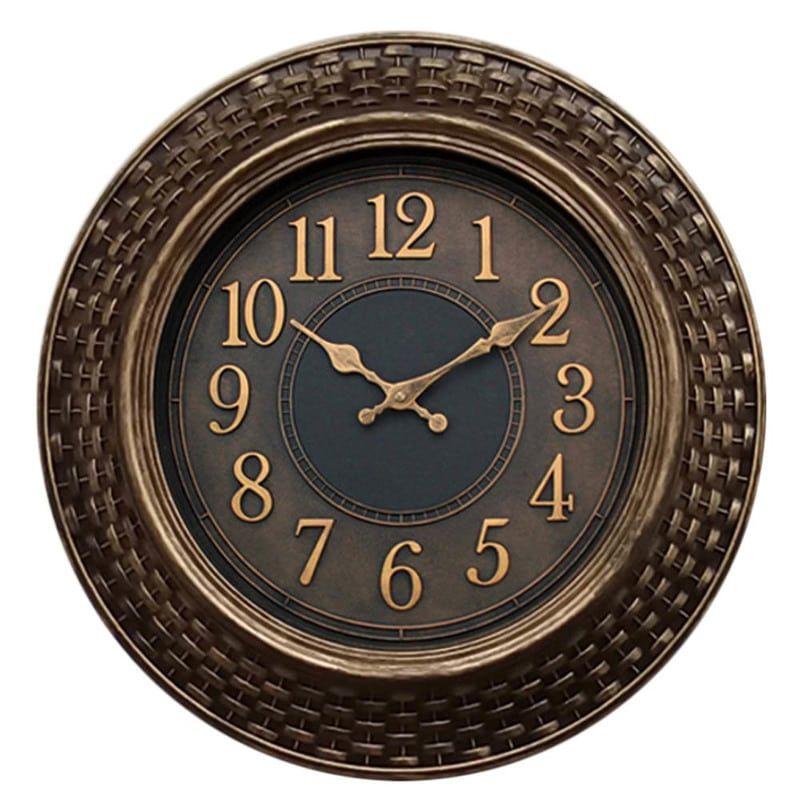 Ρολόι Τοίχου Πλεκτό 810819 45,5x5cm Brown-Gold Ankor