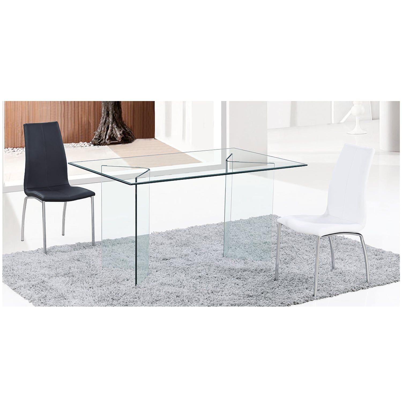 Τραπέζι Glasser Clear EM727 150X90X75 cm