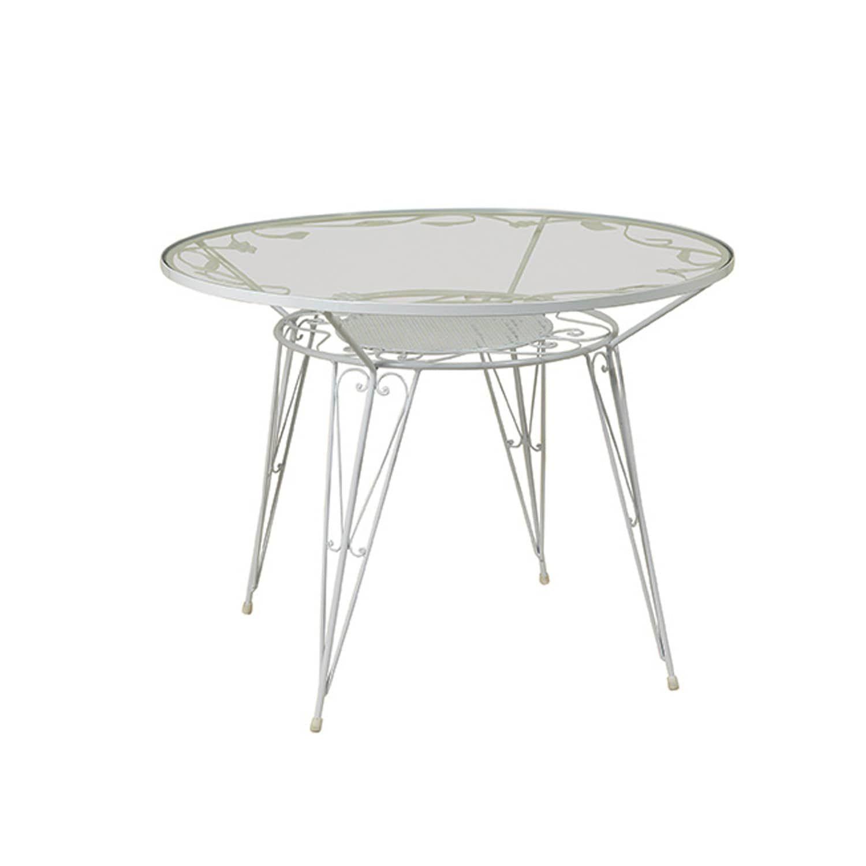 Τραπέζι 3760 Αγαλβάνιστο White Φ 100X75 cm