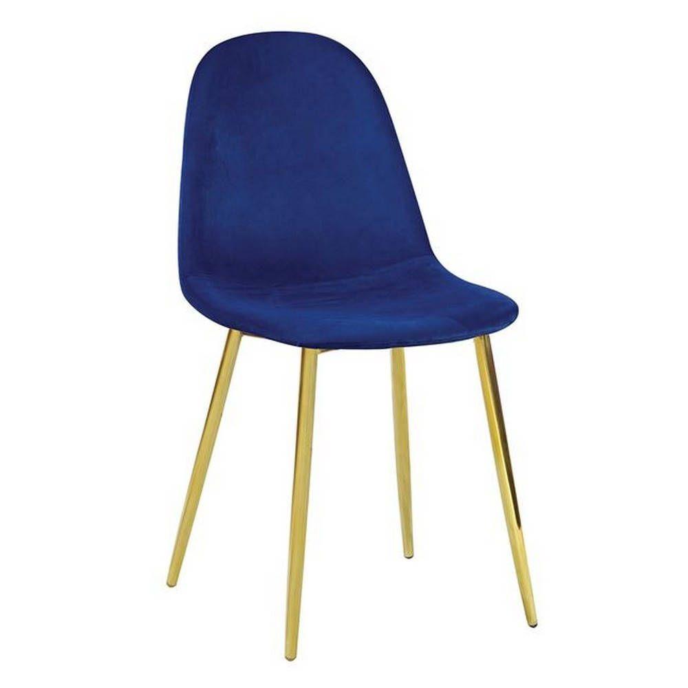 Καρέκλα Celina Velure Blue ΕΜ907,5GV 45x54x85cm Σετ 4τμχ