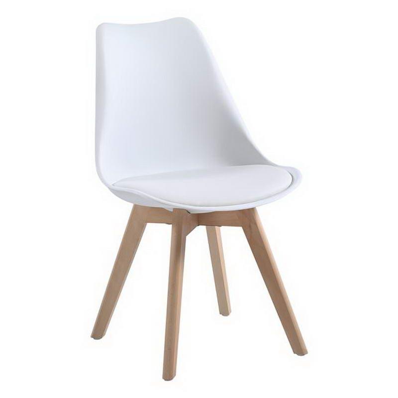 Καρέκλα Martin ΕΜ136,10W 48x56x82cm White Σετ 4τμχ