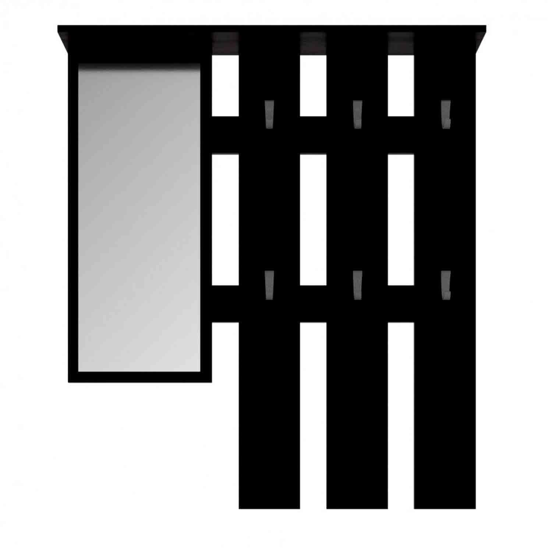 Κρεμάστρα με Καθρέπτη Luna Wenge 100X15X113,2 cm TO-LUNAHANGERWEGE